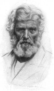 The most familiar view of Carlyle is as the 'bearded sage' with a penetrating gaze. (Source: Wikipedia)