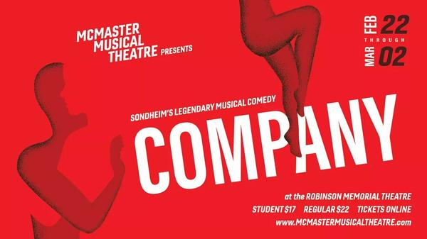 Poster: McMaster Musical Theatre presents Company