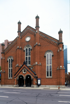 Fig. 10. Hamilton, Centenary Wesleyan Methodist (United), façade, A.H. Hills, 1866-68.