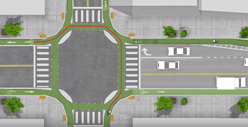 Dutch intersection design guideline (Image Credit: still from linked video)