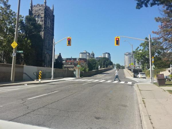 New crosswalk on Hunter at MacNab
