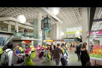 Rendering of renovated Farmers' Market (click the image to see larger)