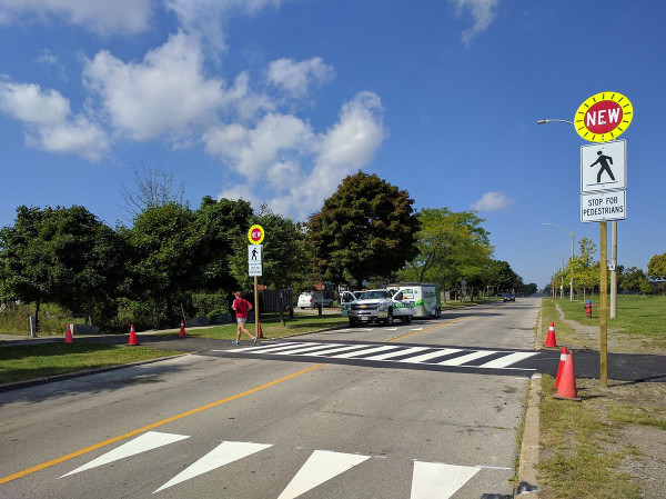 Pedestrian Crossover at Limeridge Road East and Escarpment Rail Trail