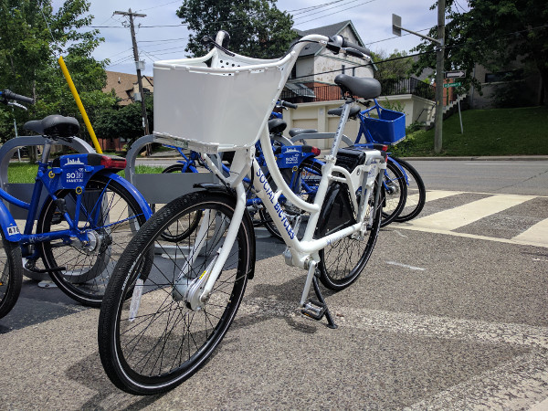 New Hamilton Bike Share ERI bike, view from front