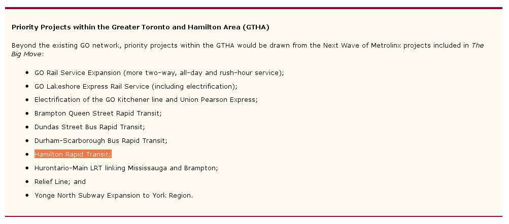 'Hamilton Rapid Transit' in 2014 Ontario Budget