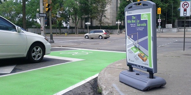 Bike box in Ottawa