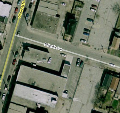Satellite view of the Farmers' market location (Image Credit: Google Maps)