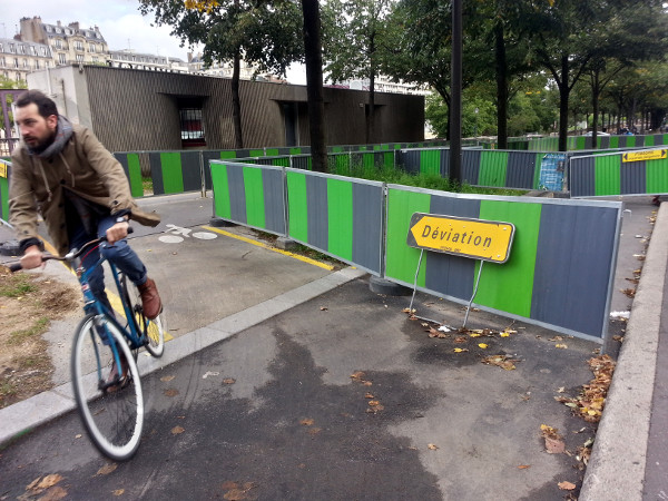 Cycle track gets a detour