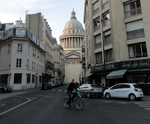 A cyclist in Paris