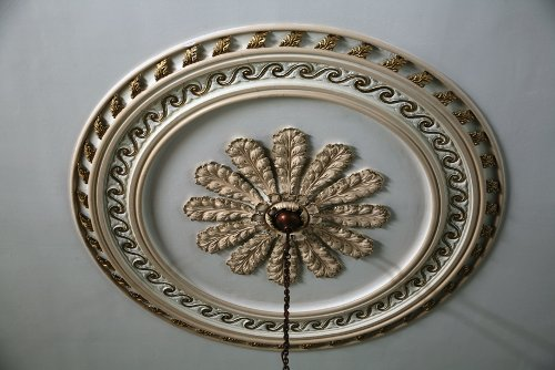 Fig. 6. Paris, St James's Anglican Church, detail of nave ceiling medallion