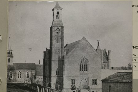 Fig. 4. Paris Town Hall and St James's Anglican Church (Paris Museum and Archives).