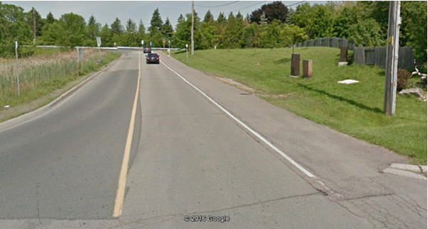 Paved multi-use path on the side of Frances Avenue (Image Credit: Google)