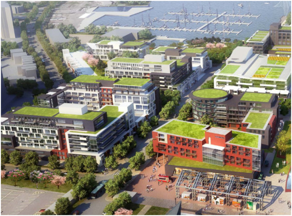 Figure 2: The Pier 7 and 8 Urban Design Study lays out the plans for a vibrant, pedestrian-oriented new community