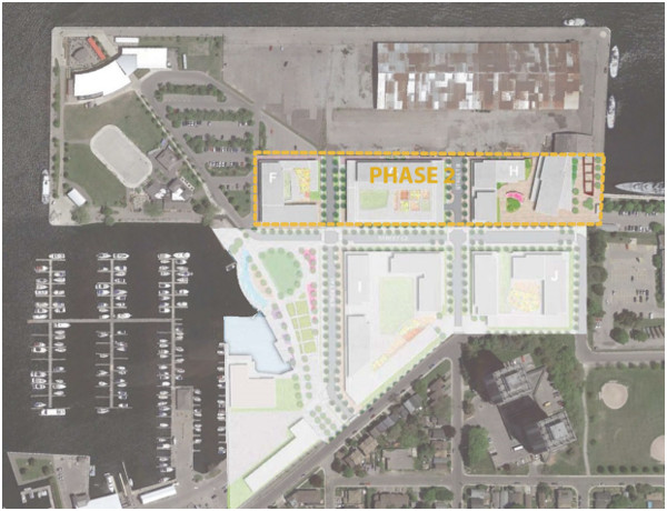 Figure 5: Phase 2 includes the construction of the required parking spaces for Phase 3 development, leading to an oversupply of parking in the short-term