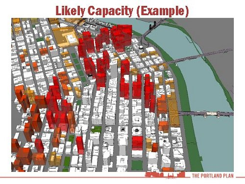 Portland Likely Building Capacity(Image Credit: Portland Plan)