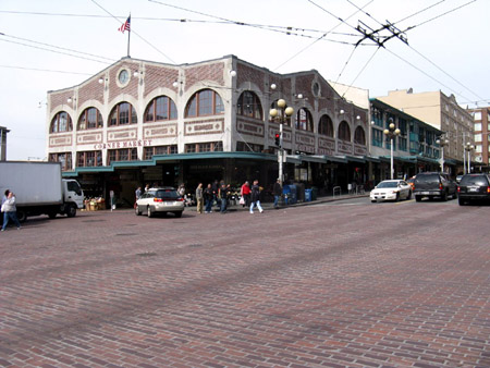 Extensive use of cobblestone through the old downtown and market district make Seattle a pleasure to walk around.