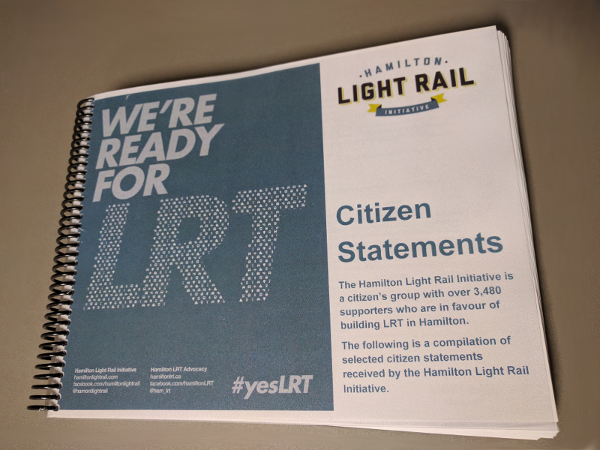 Hamilton Light Rail Initiative Citizen Statements