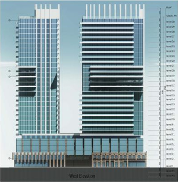 Proposed tall building on the Kresge site on Gore Park