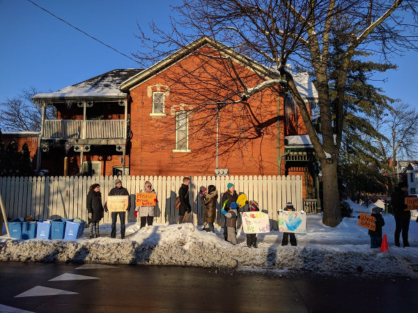 Safe streets protest at Queen and Herkimer, February 12, 2018 (RTH file photo)