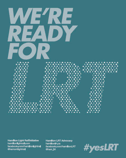 We're Ready For LRT poster, teal colour scheme