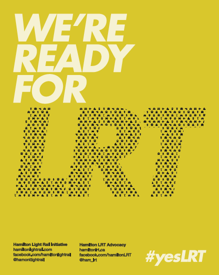 We're Ready For LRT poster, yellow colour scheme
