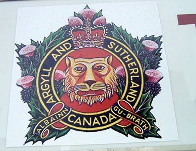 Albainn Gu-Brath (Scotland forever – Gaelic). The crest motto of the Argyll and Sutherland Highlanders reflects the proud Scottish heritage of Scots-Canadians.