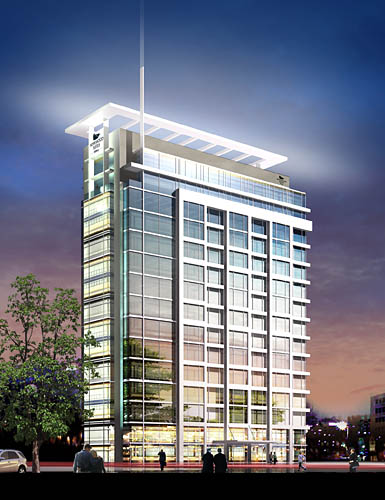 Rendering: Homewood Suites, Main and Bay