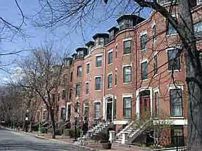 Row Houses in South End, Boston (Photo Credit: Emerson College School of Journalism)
