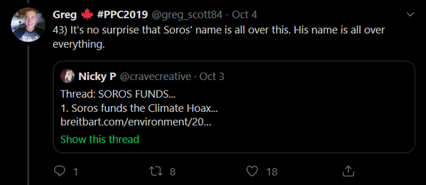 You knew George Soros was going to show up sooner or later