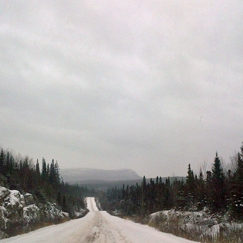 The road to stability? Highway 389 from Labrador City to Baie Comeau.