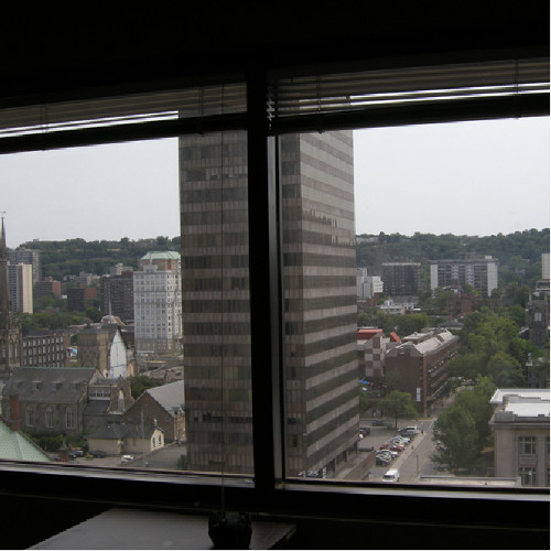 View from the Landlord and Tenant Board hearing rooms, Fairclough Building.