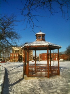 The new Victoria Park gazebo.