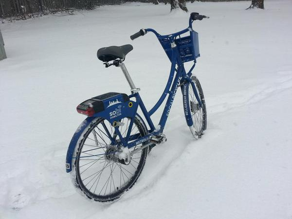 SoBi bike in winter