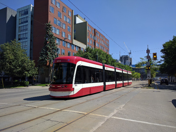 Spadina LRT vehicle (RTH file photo)