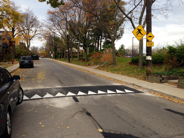 Speed hump on Charlton