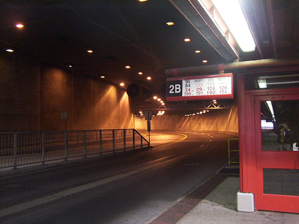 St. Laurent Transitway Station looking west. (Image Credit: O.C. Transpo)