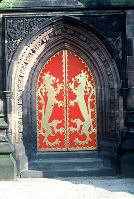 Fig. 9. Cheadle (Staffordshire), St Giles, west doorway.