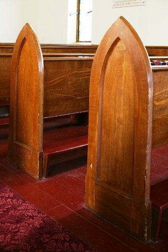 Fig. 11. Middleport, St Paul's Anglican Church, bench ends.