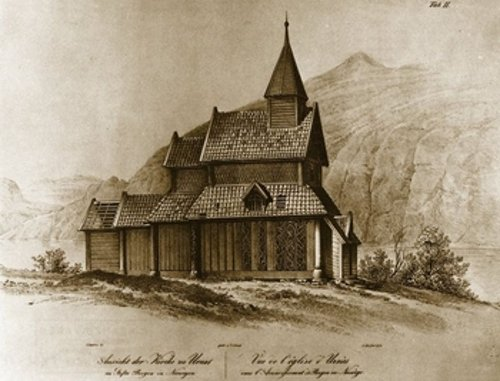 Fig. 13. Urnes (Norway), Stave Church, after J.C. Dahl (1837).
