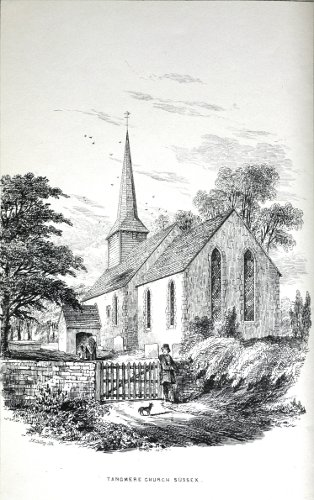 Fig. 16. Tangmere Church (Sussex), from Brandon's Parish Churches (1851).