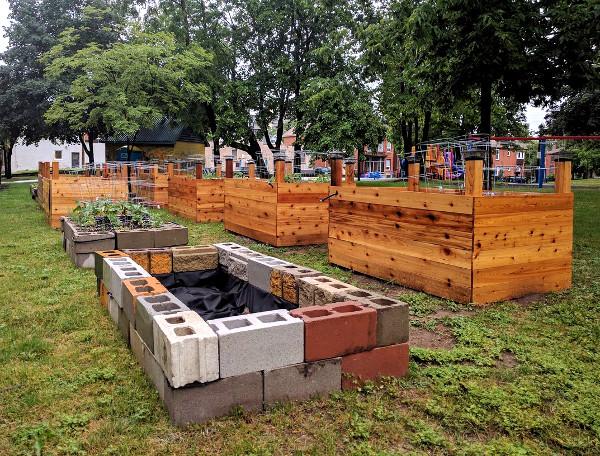 Stinson Community Garden under construction (RTH file photo)