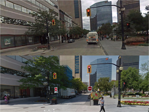 South leg of King Street East at Gore Park