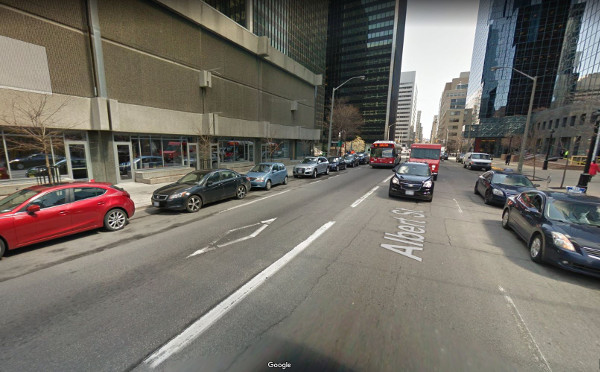 Albert Street bus lane (Image Credit: Google Street View)