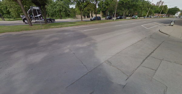 Side street onto York Boulevard (Image Credit: Google Street View)