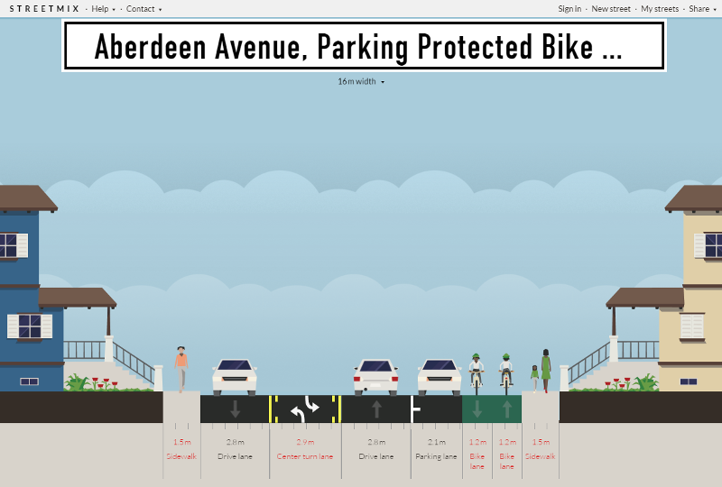One proposed redesign of Aberdeen (Image Credit: Streetmix)