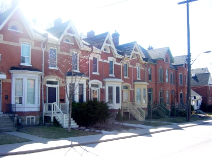Row houses in downtown Hamilton (RTH file photo)