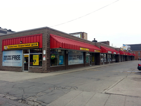 Strip plaza on James North and Wilson, next to the Tivoli site (RTH file photo)