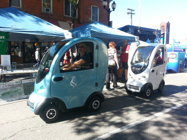 These Lil Eco mini-cars scooted down the street