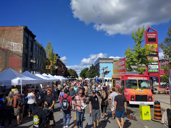 James North was jam-packed with people on Supercrawl weekend (RTH file photo)