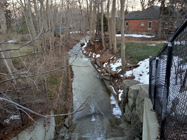 Sydenham Creek looking downstream from Sydenham Road